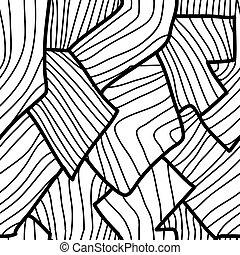 パターン, 幾何学的, seamless, 抽象的