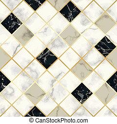 パターン, 幾何学的, seamless, 贅沢, 大理石