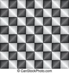 パターン, 幾何学的, seamless, 金属