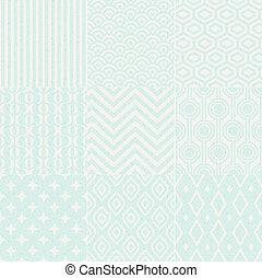パターン, 幾何学的, seamless, textured