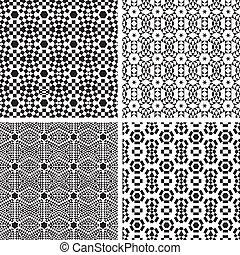 パターン, 幾何学的, set., 装飾