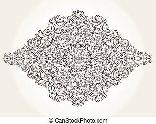 パターン, 復活, mandala, 民族, 背景, 渦巻, element.
