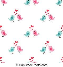 パターン, 愛, seamless, 鳥