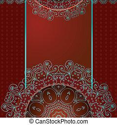 パターン, 抽象的, アラベスク, デザイン