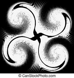 パターン, 抽象的, イラスト, バックグラウンド。, ベクトル, 黒