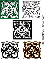 パターン, 抽象的, ケルト