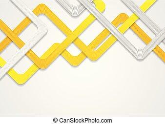 パターン, 抽象的, ストライプ, デザイン, オレンジ, 企業である