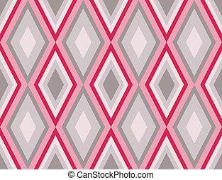 パターン, 抽象的, ダイヤモンド, レトロ, seamless
