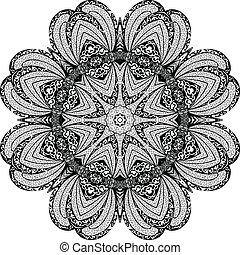 パターン, 抽象的, ベクトル, アラベスク, 円