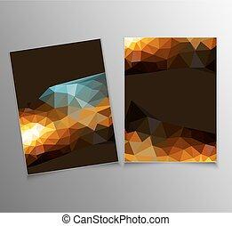 パターン, 抽象的, ベクトル, 三角形, テンプレート
