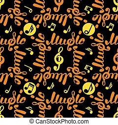 パターン, 抽象的, ベクトル, 音楽, seamless