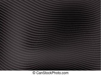 パターン, 抽象的, ライン, デザイン, 波, 黒