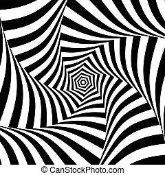 パターン, 抽象的, ライン, 回転, 放射状, 幾何学的, 円