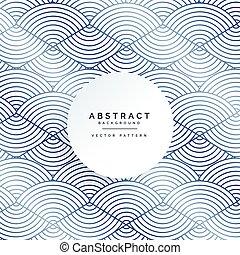 パターン, 抽象的, ライン, 背景, 円, 白