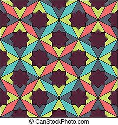 パターン, 抽象的, レトロ, 幾何学的
