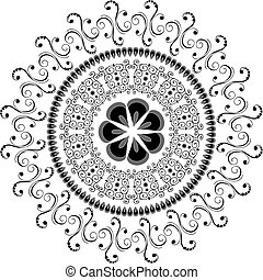 パターン, 抽象的, 東洋人