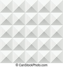 パターン, 抽象的, 灰色, seamless, 幾何学的, 正方形, 白