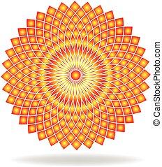 パターン, 抽象的, 花, ロゴ