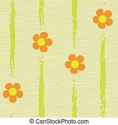 パターン, 抽象的, 花, seamless, 背景