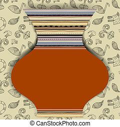 パターン, 抽象的, 要素, ポット, アフリカ