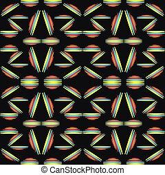 パターン, 抽象的, 黒, seamless, 背景