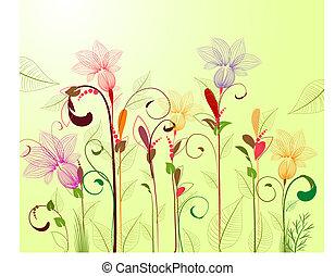 パターン, 抽象的, flowers2