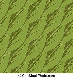 パターン, 抽象的, leaves., イラスト, seamless, ベクトル