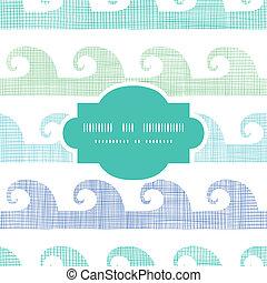 パターン, 抽象的, seamless, ストライプ, 織物, 背景, 波, フレーム