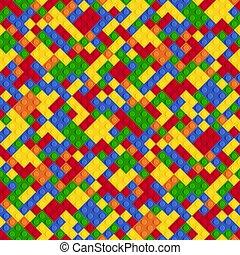 パターン, 抽象的, seamless, プラスチック, 多色刷り, コンストラクター