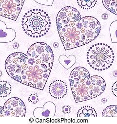 パターン, 抽象的, seamless, 心