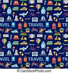 パターン, 旅行, seamless