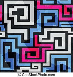パターン, 明るい, らせん状に動く, seamless