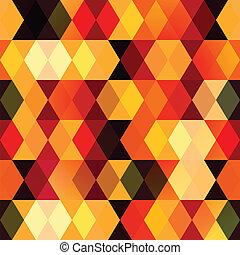 パターン, 暖かい, 広場, seamless