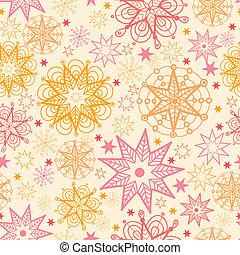 パターン, 暖かい, 星, seamless, 背景