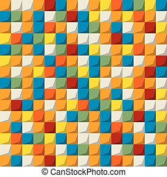 パターン, 有色人種, モザイク, seamless