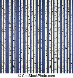パターン, 木, シラカバ