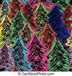 パターン, 木, seamless