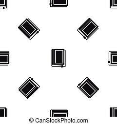 パターン, 本, 黒, seamless