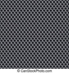 パターン, 格子, 銀, 背景, 金属