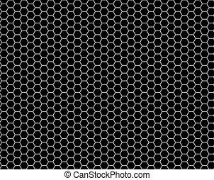 パターン, 格子, seamless, ハチの巣