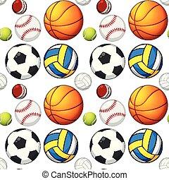 パターン, 概念, seamless, ボール