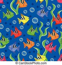 パターン, 水族館, ベクトル