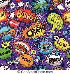 パターン, 漫画, スピーチ, 泡