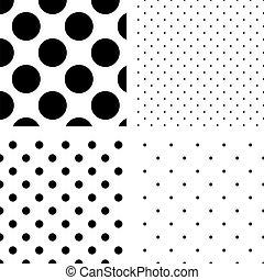 パターン, 点, seamless, セット, ポルカ