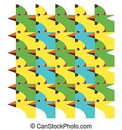 パターン, 犬, 鳥