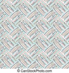 パターン, 白, カラードの背景, アウトライン