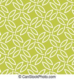 パターン, 白, 緑, seamless