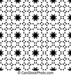 パターン, 白, 黒, seamless, 民族