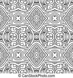 パターン, 白, 黒, seamless