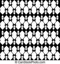 パターン, 白, 5, レース, 黒